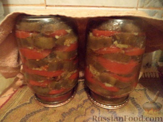 Фото приготовления рецепта: Баклажаны с помидорами и чесноком - шаг №16