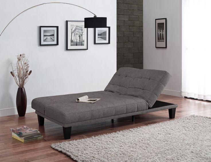 Amazoncom  DHP Metropolitan Futon Lounger, Gray Linen
