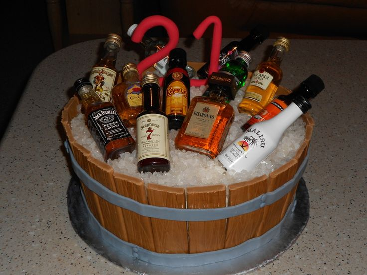 Pin On Cakes With Rum Bottles