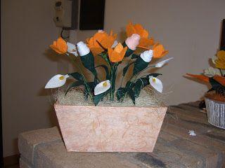 Composizione con fiori in feltro
