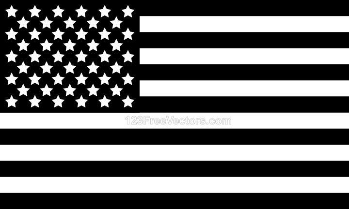 Black And White Us Flag Black And White Flag Black And White Flag