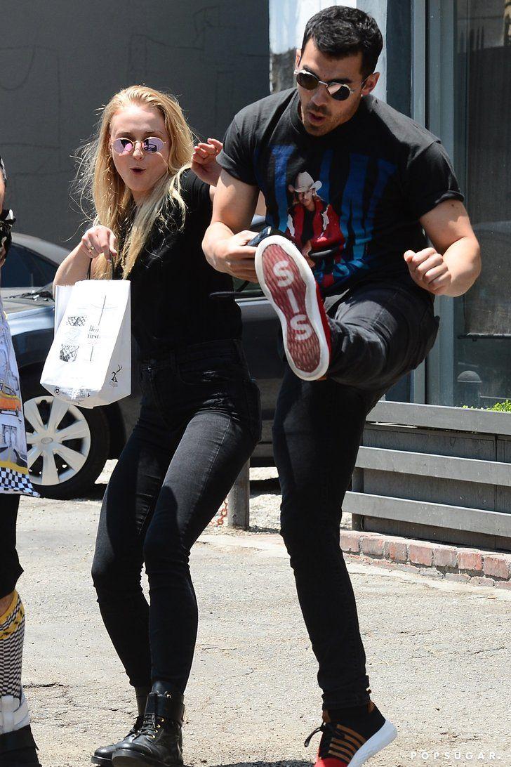 Joe Jonas And Sophie Turner Goofballs At Heart Drop