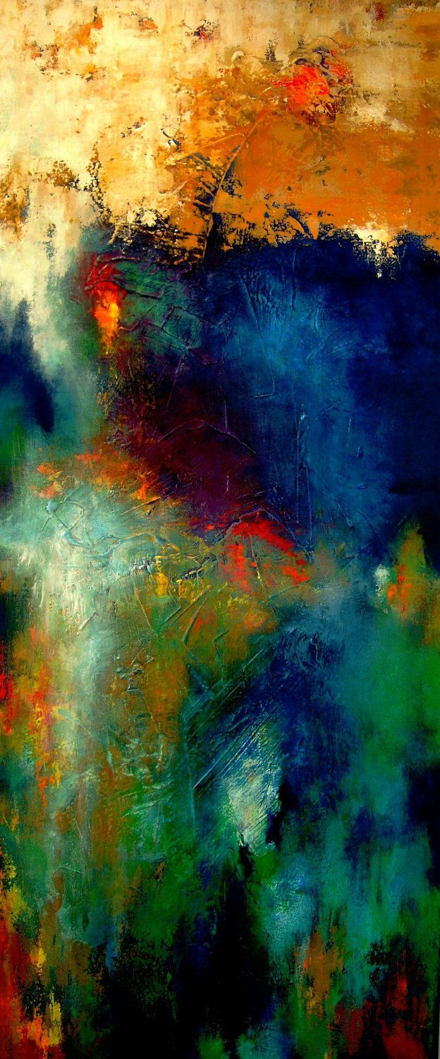 This painting is alive and vibrant- I love it!