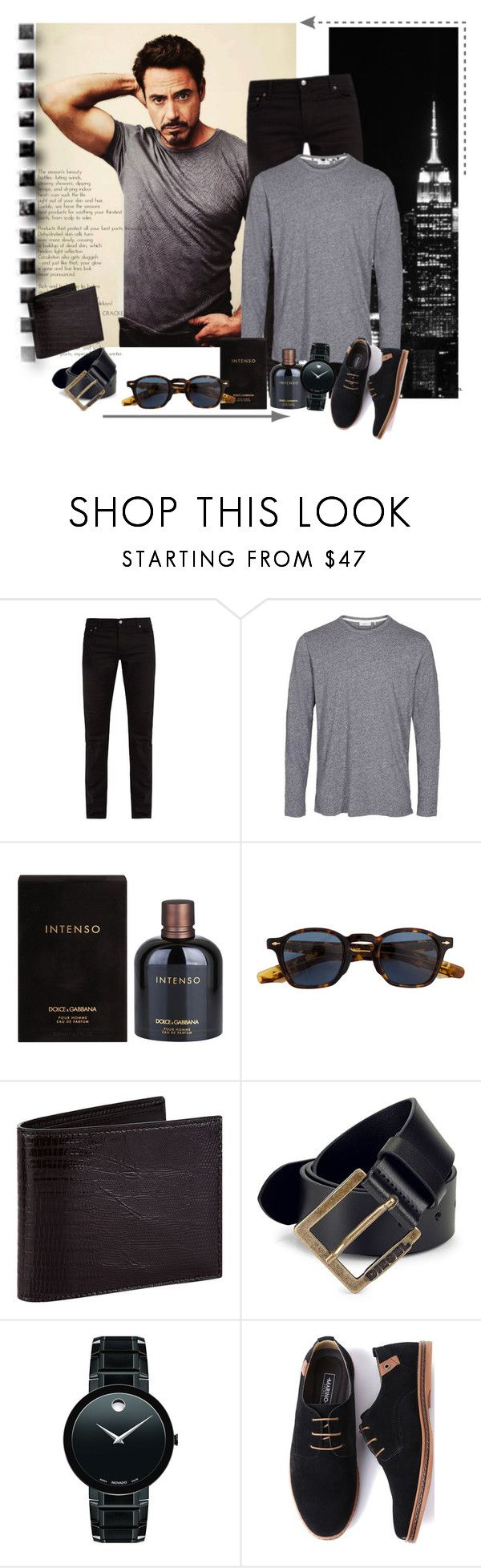 """""""I'm sexy and I know it!"""" by schneerose ❤ liked on Polyvore featuring Acne Studios, Dolce&Gabbana, Jacques Marie Mage, Tom Ford, Diesel, Movado, men's fashion and menswear"""