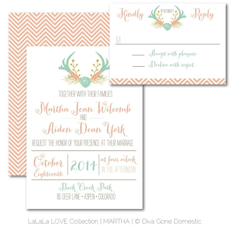 antler wedding invitations Check more image at http://bybrilliant.com/3151/antler-wedding-invitations
