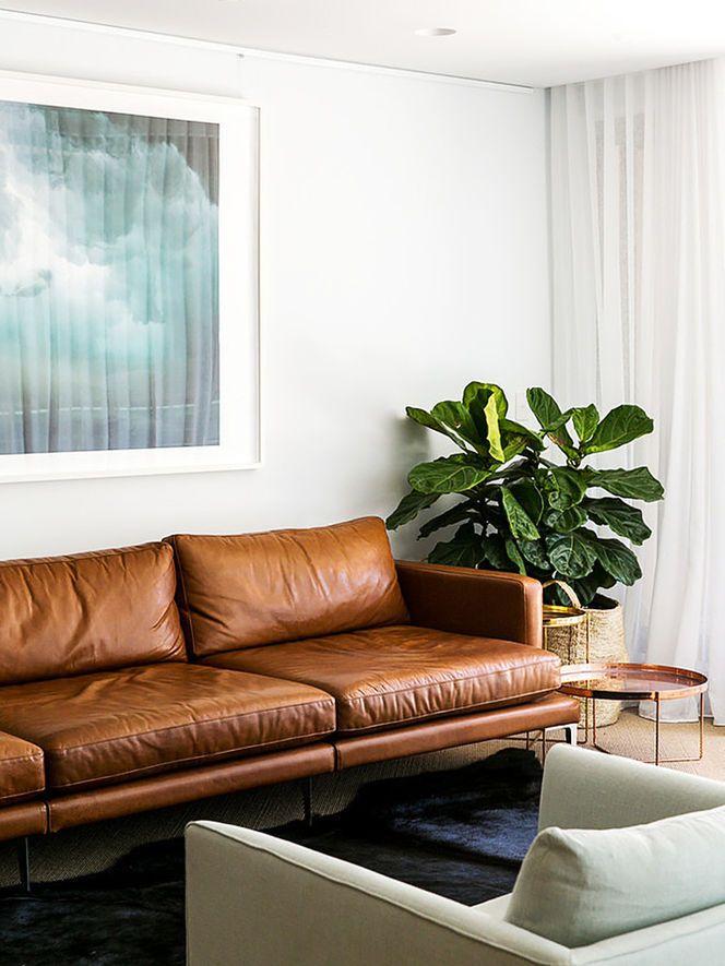 Sofá de Couro Moderno