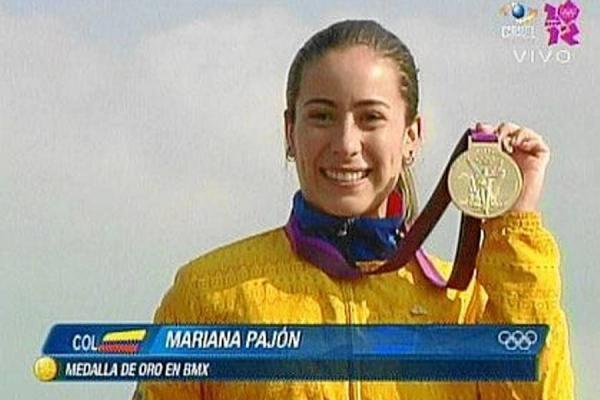 Mariana Pajón, ciclista antioqueña.