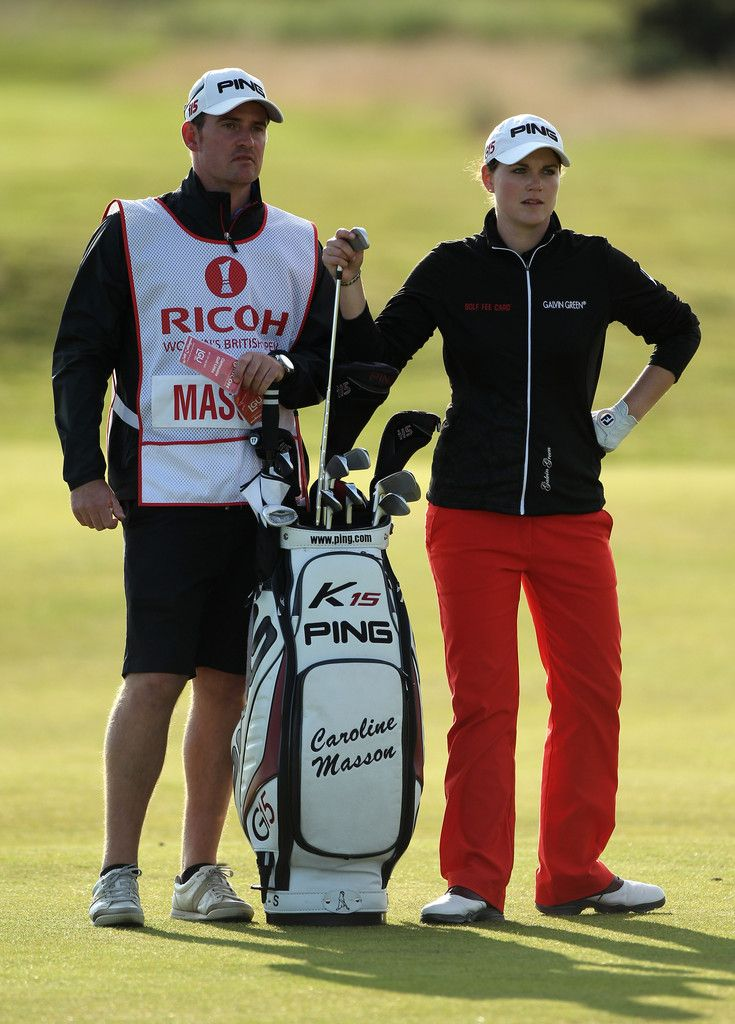 Caroline Masson Photos Photos - Caroline Masson of Germany waits on the 14th hole with her caddie Martin Ridley during the second round of the 2011 Ricoh Women's British Open at Carnoustie on July 29, 2011 in Carnoustie, Scotland. - Ricoh Women's British Open - Day Two
