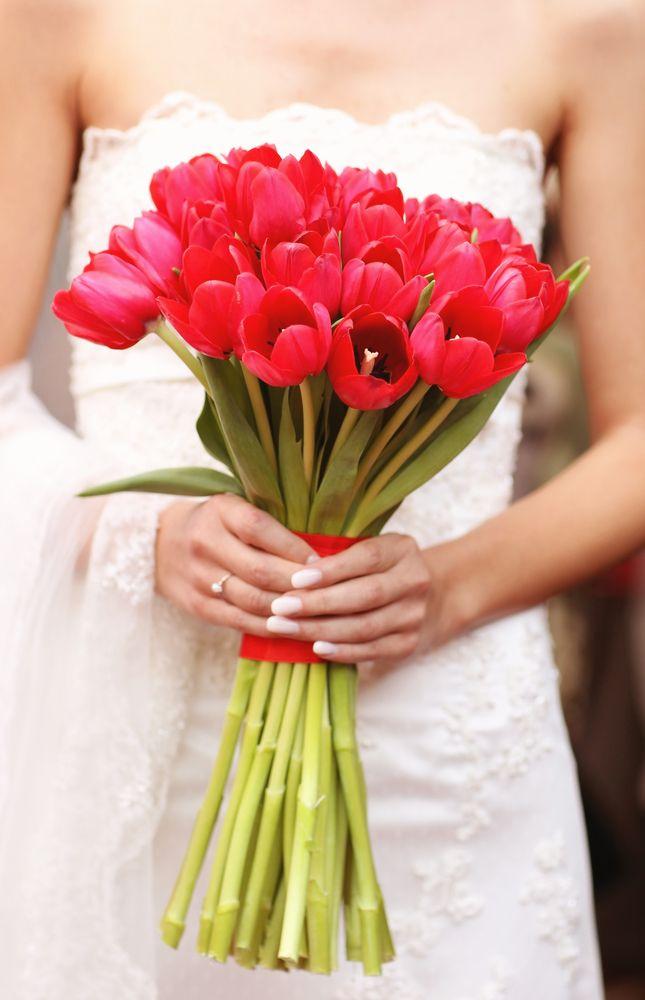 Сколько тюльпанов в свадебном букете, цветы для