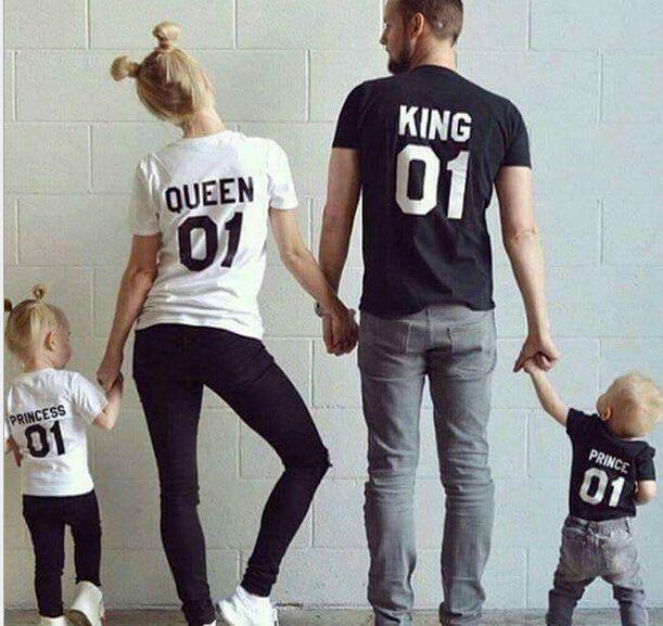 2016 de verão Da Família Roupas Combinando-Algodão de manga Curta correspondência roupas da família T-shirt Da Família Olhar Família roupas combinando