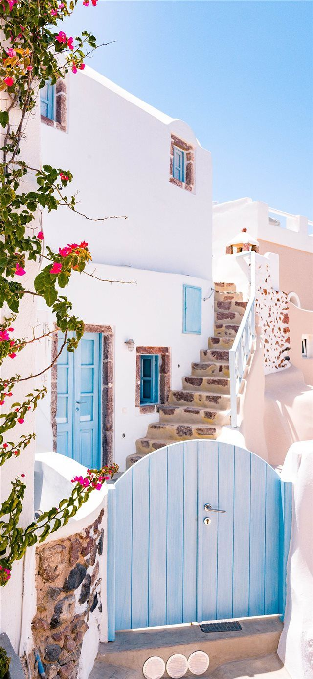 Greek Cottage iPhone X wallpaper – Siobhan Mockler