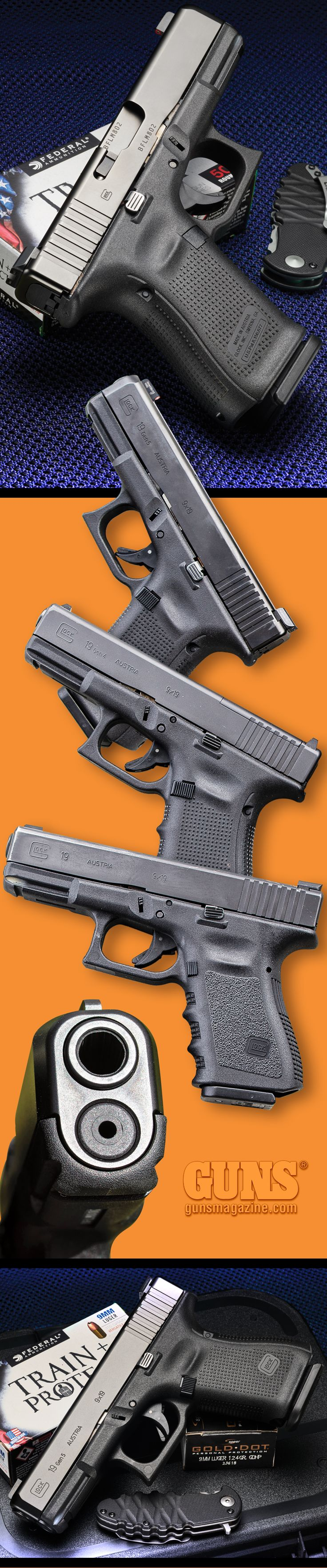 A Generational Advance | By Massad Ayoob | The Gen5 Glock 19 Arrives With Very Worthwhile Enhancements. | There has been much discussion about the new Gen5 Glock 9mm pistols. Let's take a look at the features ... | © GUNS Magazine 2018