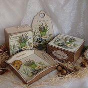 Для дома и интерьера ручной работы. Ярмарка Мастеров - ручная работа набор для кухни Романс о Провансе. Handmade.