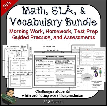 5th Grade Test Prep or Morning Work by Eric's Elementary Resource Store