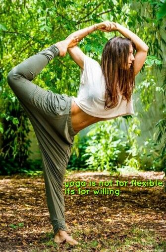 Yoga is not for flexible, it's for willing! It's important!