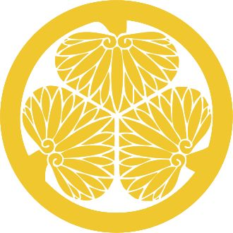 Mon are Japanese emblems used to decorate and identify an individual or family. While mon is an encompassing term that may refer to any such device, kamon and mondokoro refer specifically to emblems used to identify a family. The mon of the Tokugawa shoguns — three hollyhock leaves inside a circle.