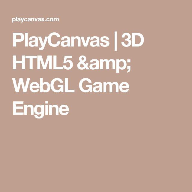 PlayCanvas | 3D HTML5 & WebGL Game Engine