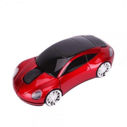 Car Shaped Optical Mouse Red