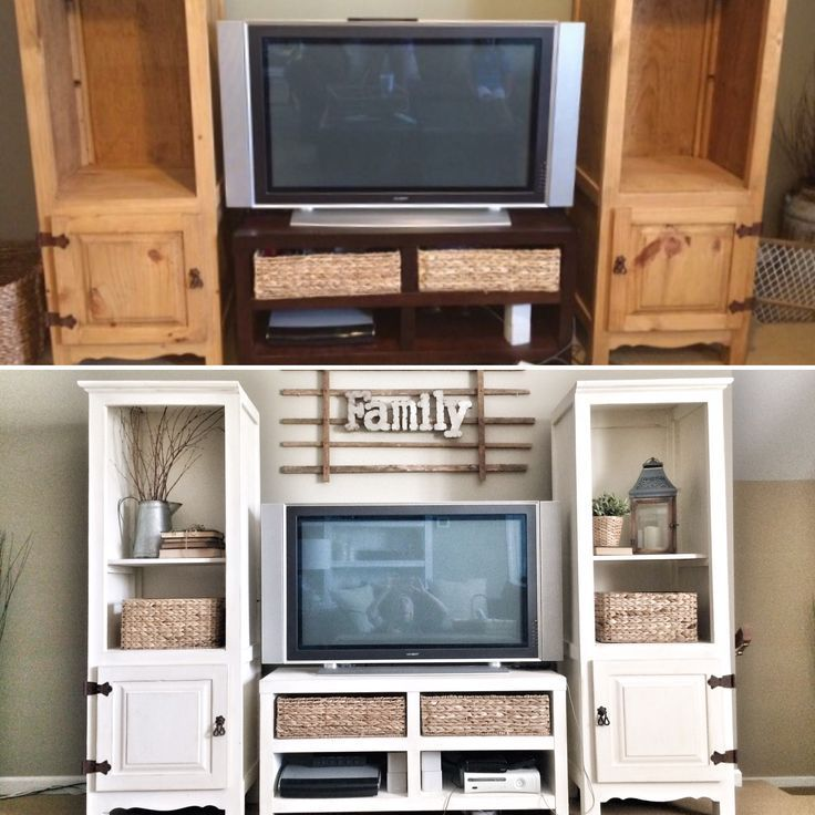 Renovation of the entertainment center. Before and after the IG @ bless_this_nes …   – Upcycled Furniture – #blessthisnes #Center #entertainment #Fu…