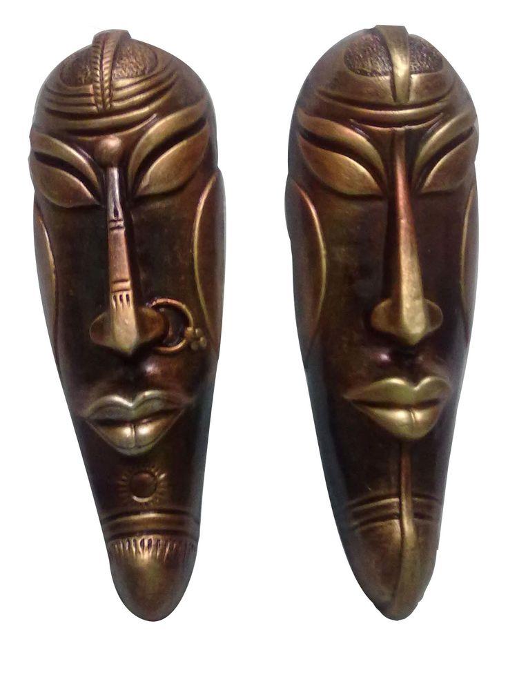 #WallHanging Mask in Pair  #decorative #homedecor #craftshopsindia