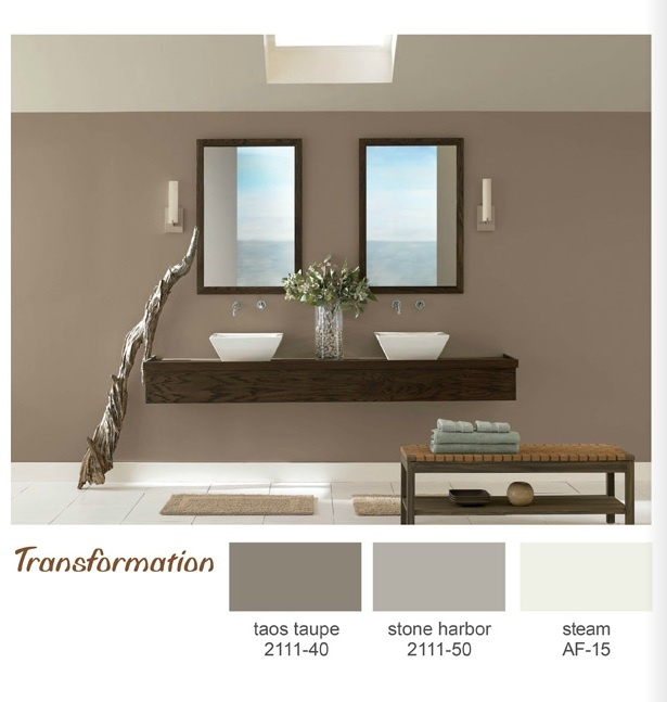 Taos taupe painted family room and foyer this color very for Taupe colors for walls