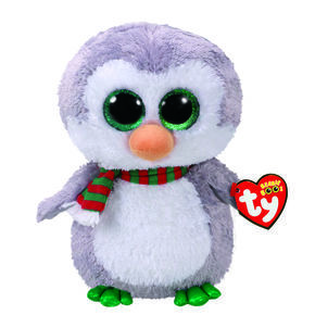 TY Beanie Boo Chilly the Penguin Medium Plush Toy,