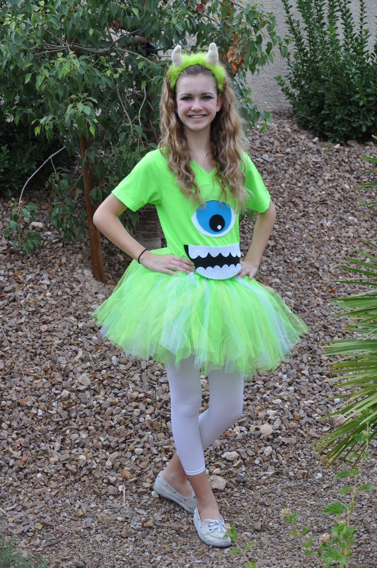 Super easy and fun to make Mike Wazowski, tutu costume.