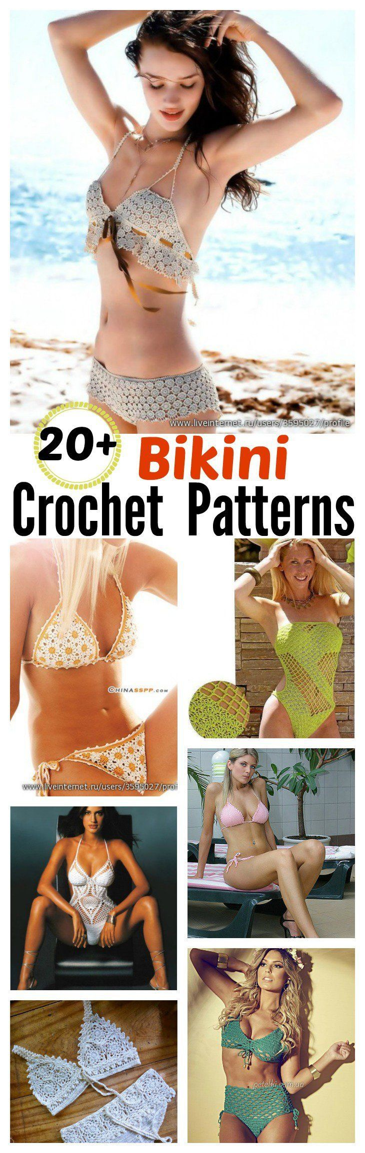 20+ Free Crochet Bikini Patterns. Crochet your own swimming suit or bathing suit this summer!
