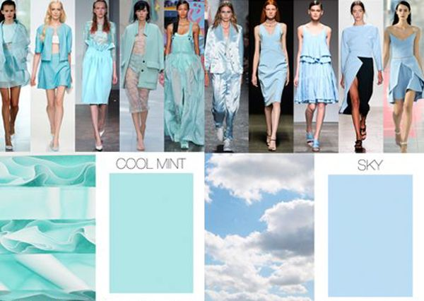 Cool Mint And Sky Ss15 Fashion Designer Colour Style Trend Forecast Ss 2015 Zantman