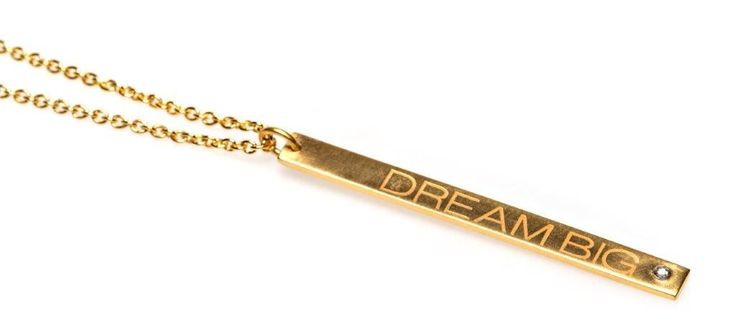 Power Quote DREAM BIG Necklace - HeidisHoff.no #dreambig #quote #necklace