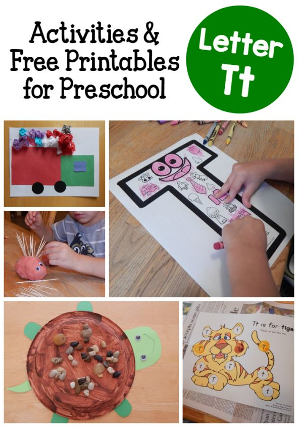 Letter T activities for preschool                                                                                                                                                                                 Mais