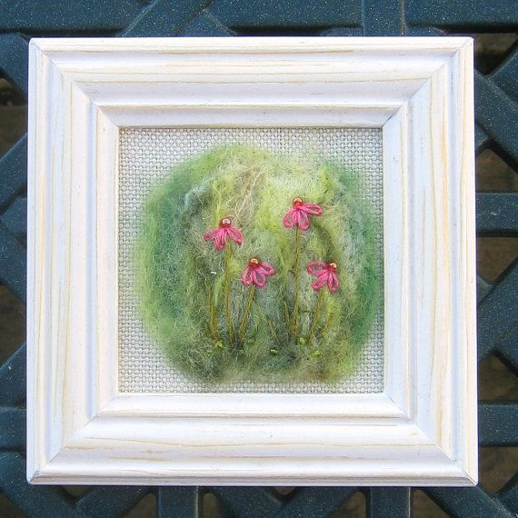Beautiful needle-felted and hand embroidered picture https://www.etsy.com/uk/listing/173034317/original-textile-art-needle-felted-and