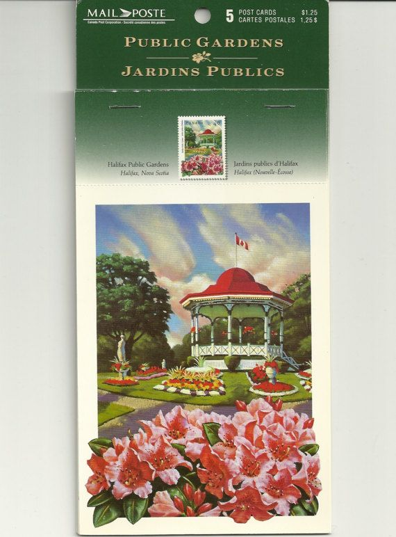 Canada Post Cards Public Gardens Canada Booklet by jeanienineandme