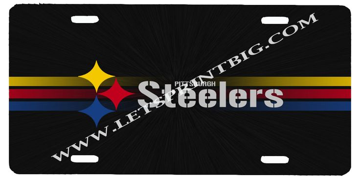Pittsburgh Steelers License Plate Car Tag
