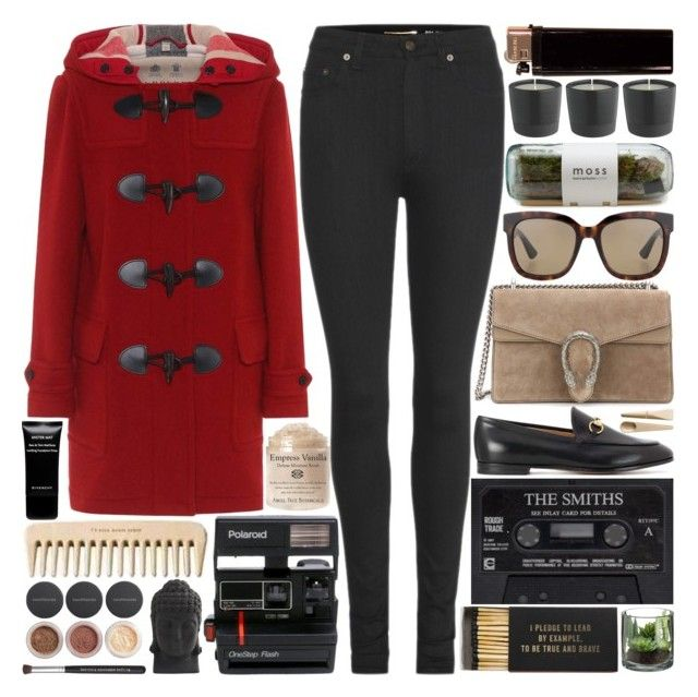 """""""Bring a friend who loves to play, we'll eat all the candy canes"""" by pure-and-valuable on Polyvore featuring Burberry, Yves Saint Laurent, Gucci, Jayson Home, Polaroid, Givenchy, Bare Escentuals, Nearly Natural and Muuto"""