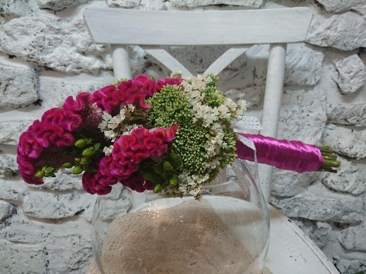 bukiet,ślub,celosia,lato,kwiaty
