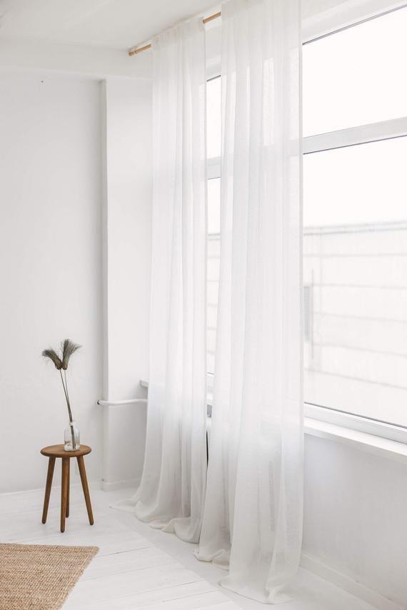 Linen Drape Gauze Window Panel