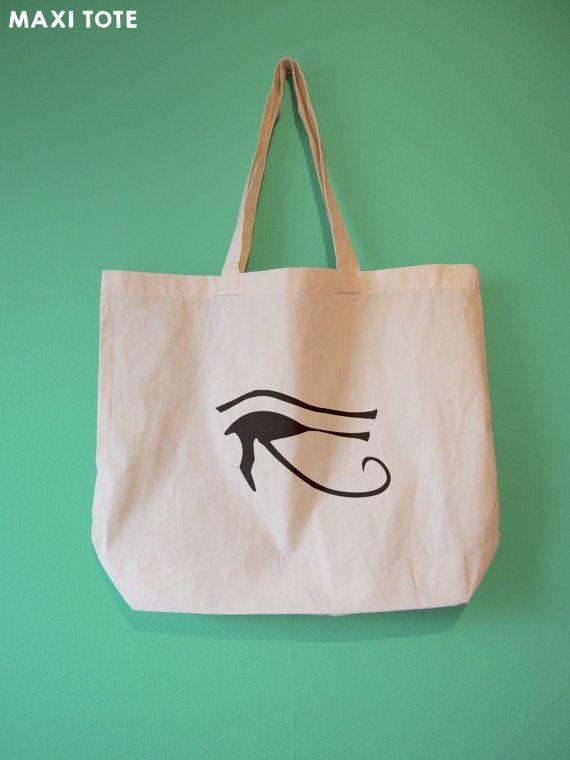 Egyptian Eye of Horus Natural Cotton Tote Bag  choose by BYKI