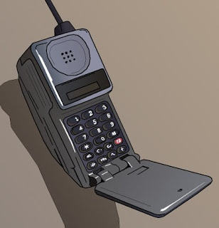 Artwork of those old motorola flip phones