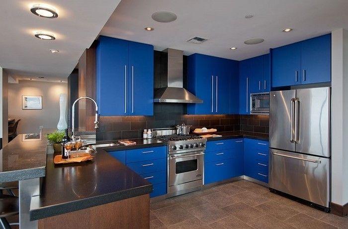 küchen modern interieur design zum inspirieren dunkelblaue - küchen modern design