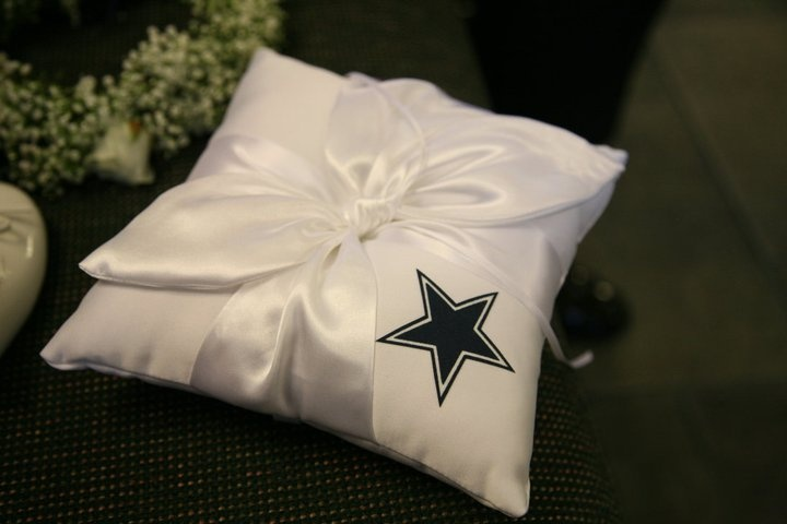 Dallas Cowboys Wedding Ring Bearer Pillow