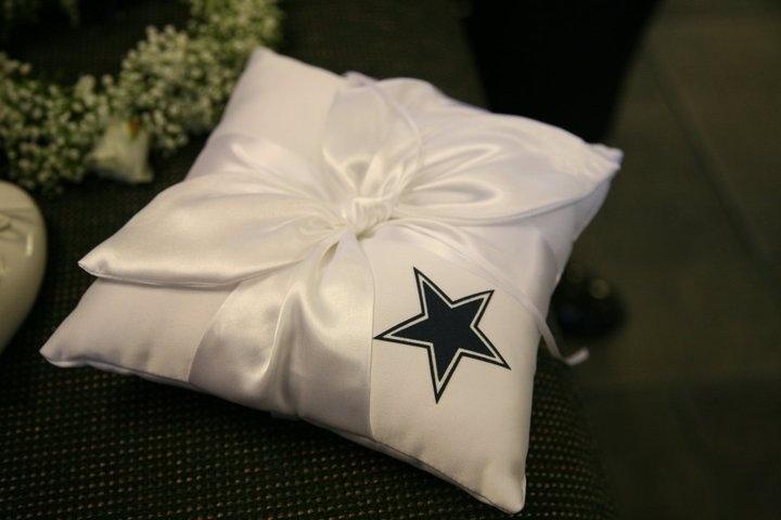 Dallas Cowboys Wedding Ring Bearer Pillow