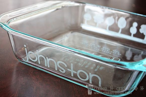 DIY glass etching...love it!