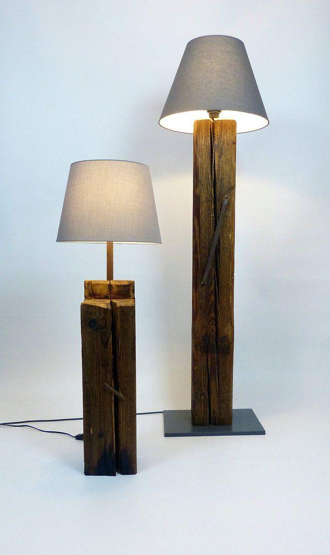Holzdesign Balken Leuchte Holzdesign Stehlampe Holz Strahler