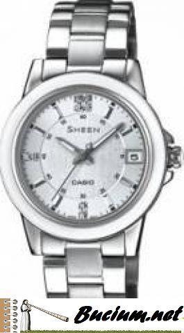Ceas Dama Casio Sheen SHE-4512D-2A Cadran Alb Curea Metal (Casio)