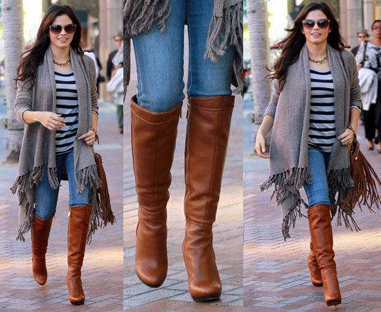 Jenna Dewan-Tatum Spotted at Beverly Hills Wearing Fierce Cognac Boots