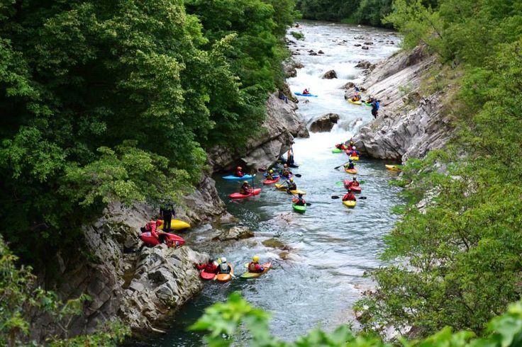 Prove di discesa  #canoa #vallecamonica #valcamonica #brescia #montagna #adamello #Oglio
