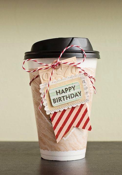 Happy Birthday Wish for the Coffee Lover, Sratbucks