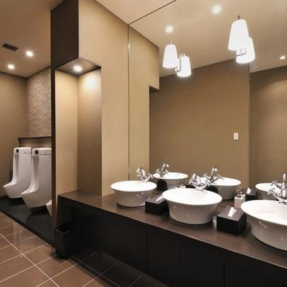 Best 25 restroom design ideas on pinterest inspired for Washroom bathroom designs