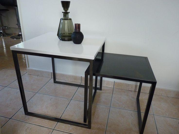 table gigogne sur mesure (une tout acier une plateau vernit structuré) https://www.facebook.com/L.Decor.56